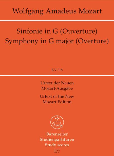 Symphony, No. 32 G major, KV 318