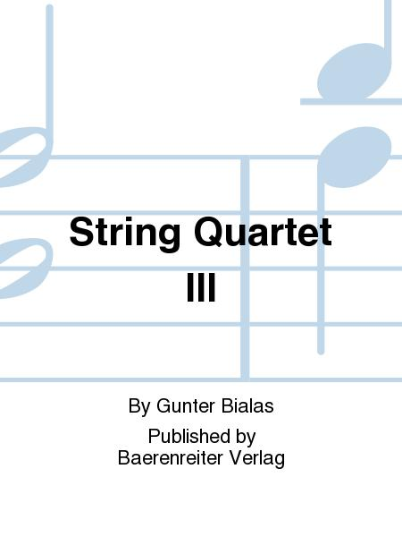 String Quartet III