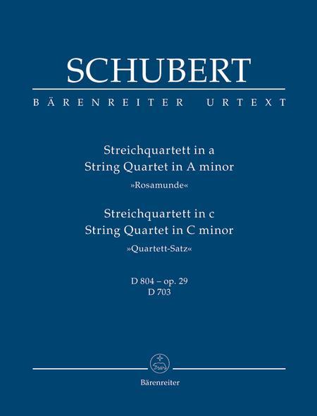 String Quartet A minor D 804, op. 29