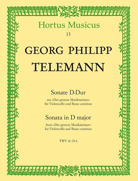 Sonate for Violoncello and Basso continuo D major TWV 41:D 6