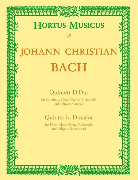 Quintett fur Querflote, Oboe, Violine, Violoncello und obligates Cembalo D major