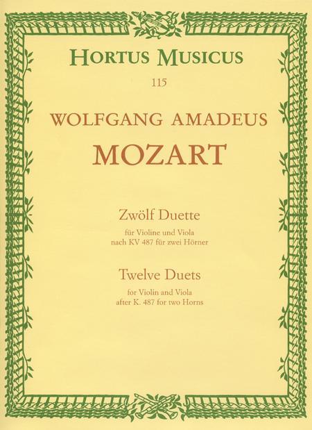 12 Duette, KV 487