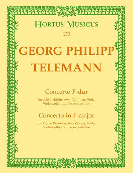 Concerto for Treble Recorder, Strings and Basso continuo F major