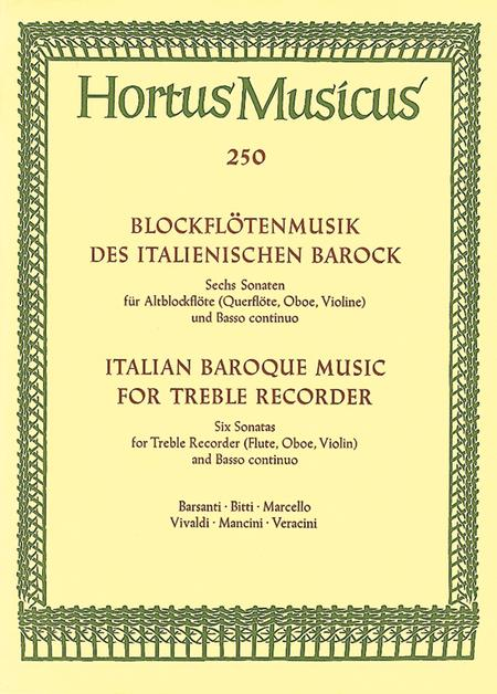 Blockflotensonaten des italienischen Barock