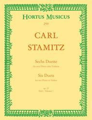 Sechs Duette fur zwei Floten oder Violinen. Heft 1, Op. 27