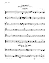 Ballettsuiten fur Streicher (Violinen dreigeteilt) und Basso continuo