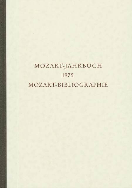 Mozart-Jahrbuch 1975