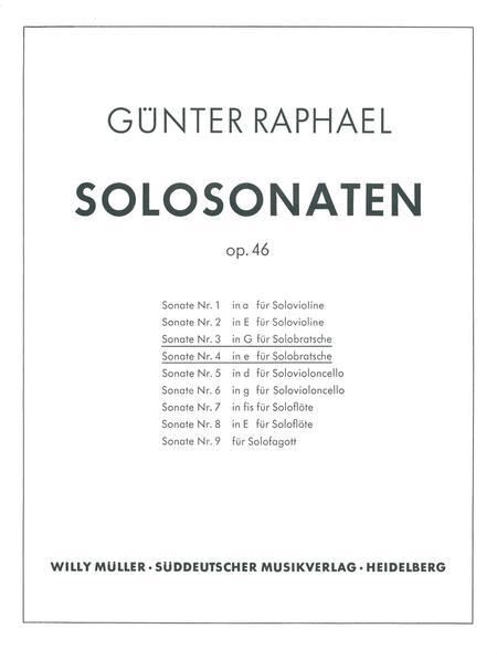 Zwei Solosonaten (1940/1946) G major, e minor, Op. 46,3/46,4