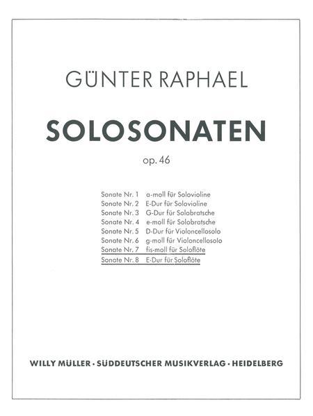 Zwei Solosonaten (1946) f sharp minor, E major, Op. 46,7/46,8