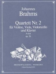 Klav.Quartett 2 A-dur op. 26
