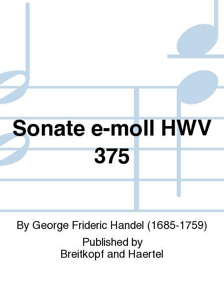 Sonate e-moll HWV 375