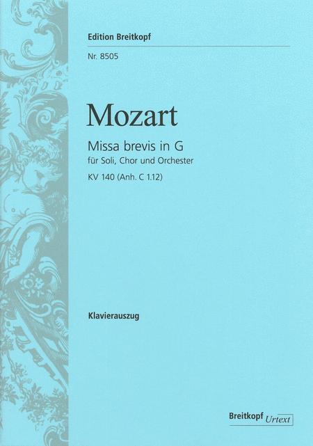 Missa brevis in G major K. 140 (App. C 1.12)