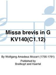 Missa Brevis In G Major K  140 (App  C 1 12) Sheet Music By