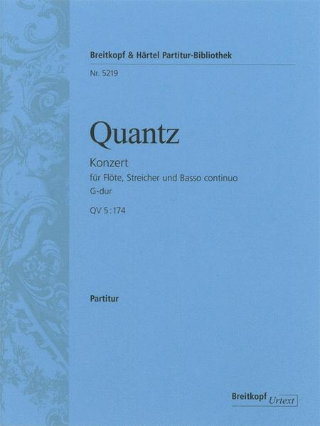 Flute Concerto in G major QV 5:174