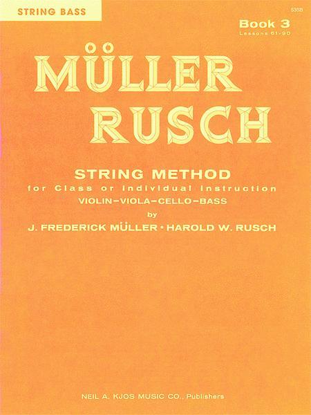 Muller-Rusch String Method Book 3 - Violin