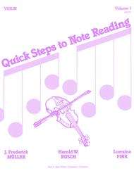 Quick Steps To Notereading, Vol 1 - Violin