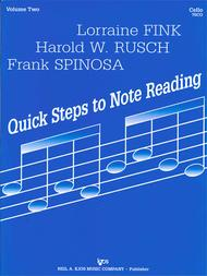 Quick Steps To Notereading, Vol 2 - Cello