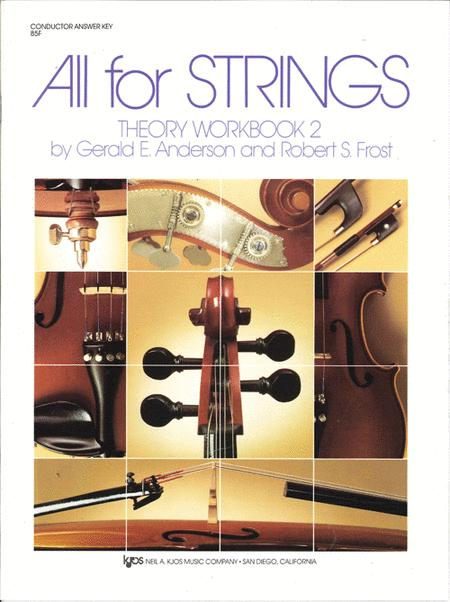 All For Strings Theory Workbook 2 - Conductor Answer Key