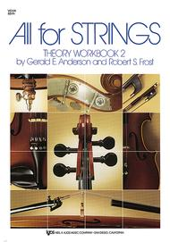All For Strings Theory Workbook 2 - Violin