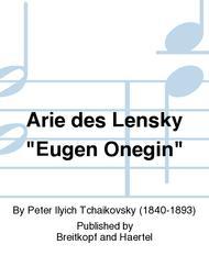 Arie des Lensky Eugen Onegin