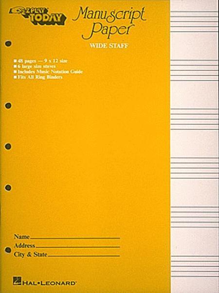 Manuscript Paper (Wide Staff)