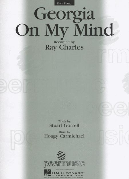 Georgia On My Mind Easy Piano Sheet Music By Ray Charles Sheet