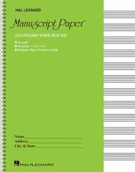 Standard Wirebound Manuscript Paper (Green Cover)