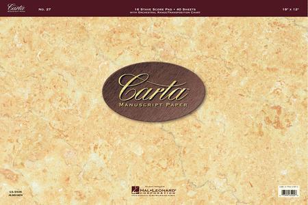 Carta Manuscript Paper No. 27 - Professional