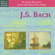 JS Bach - Selections From Notebook For Anna Magdalena Bach & 2-part Inventions (CD)