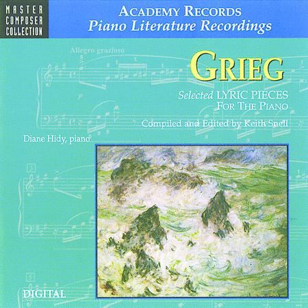 Grieg Selected Lyric Pieces For Piano (CD)