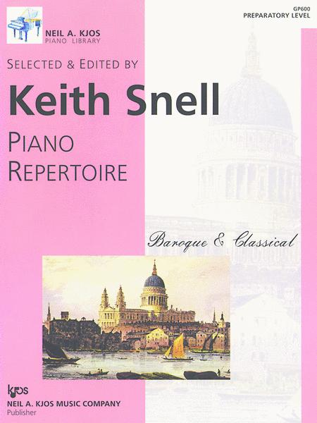 Piano Repertoire: Baroque/Classical-Prep
