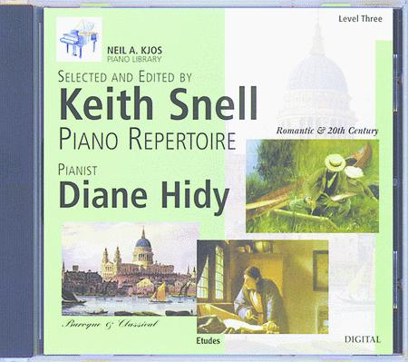 Neil A. Kjos Piano Library CD: Baroque/Classical, Romantic, Etudes, Prep & Level 3