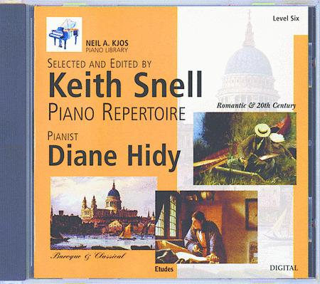 Neil A. Kjos Piano Library CD: Baroque/Classical, Romantic, Etudes, Prep & Level 6