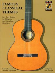 Famous Classical Themes For Easy Guitar - Book/CD