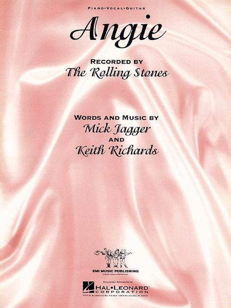 Angie Sheet Music By The Rolling Stones Sheet Music Plus