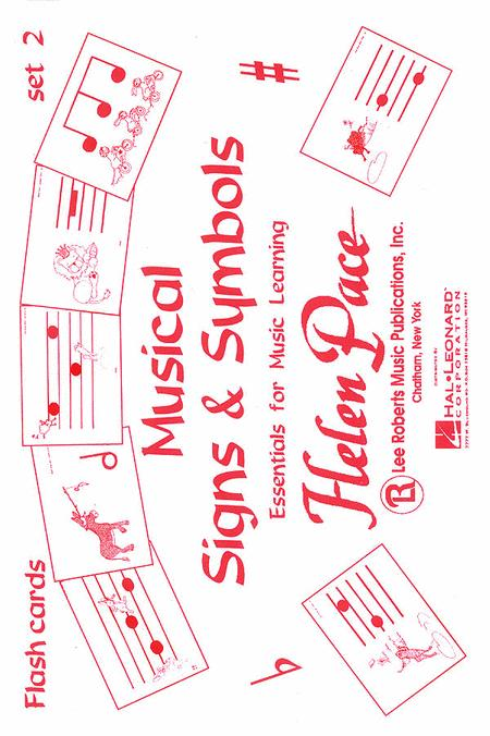 Musical Signs And Symbols Set II 24 Cards 48 Sides Moppet Flash Cards