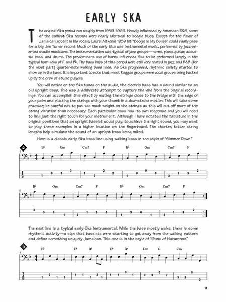 Sheet music: Reggae Bass (Bass guitar)
