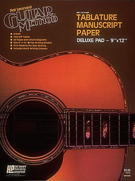 Guitar Tablature Manuscript Paper - Deluxe