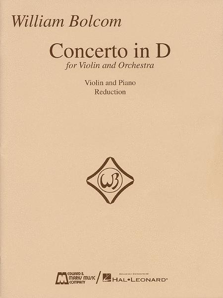 Concerto In D for Violin - Violin/Piano