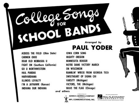 College Songs for School Bands - 1st Bb Clarinet