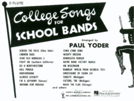 College Songs for School Bands - C Flute (Flute / Marching Band)