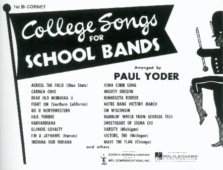 College Songs for School Bands - 1st Bb Cornet Solo (Marching Band)