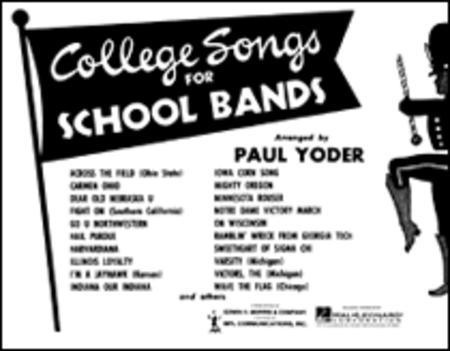 College Songs for School Bands - 3rd Bb Cornet
