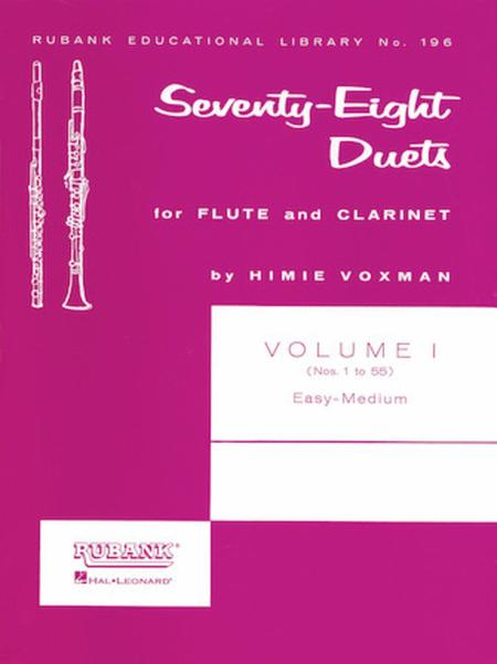 78 Duets for Flute and Clarinet - Volume 1 (Nos. 1 to 55)