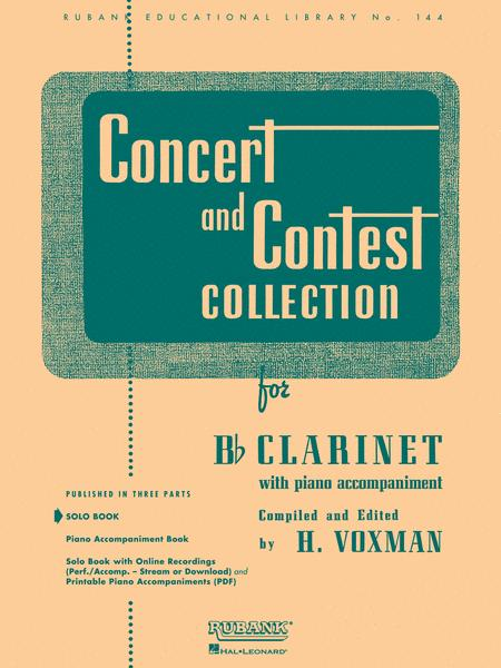 Concert and Contest Collections -Bb Clarinet (Clarinet solo part)