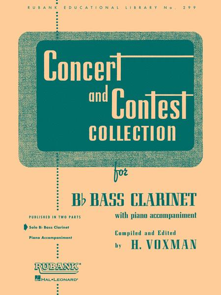 Concert and Contest Collections -Bb Bass Clarinet (Bb Bass Clarinet solo part)