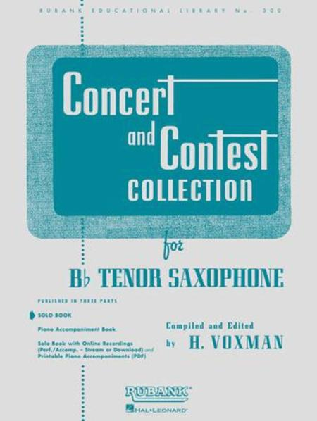 Concert and Contest Collections - Tenor Saxophone (Tenor Saxophone solo part)