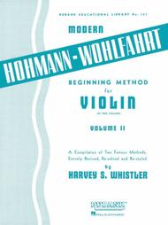 Hohmann-Wohlfahrt Beginning Method For Violin - Volume 2