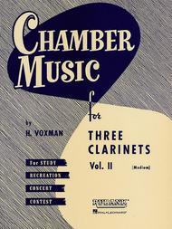 Chamber Music for Three Clarinets, Vol. 2 (Medium)