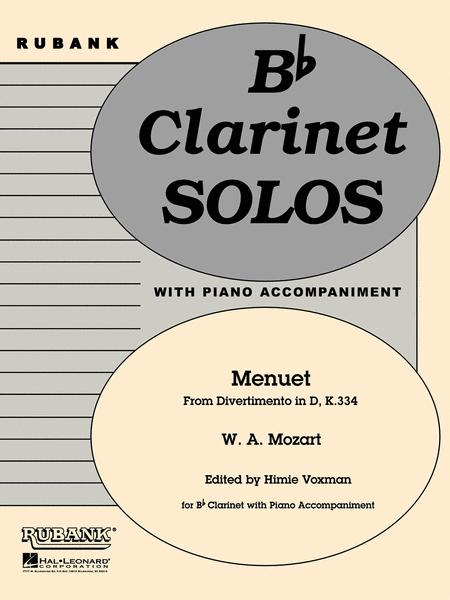 Menuet from Divertimento in D, K. 334